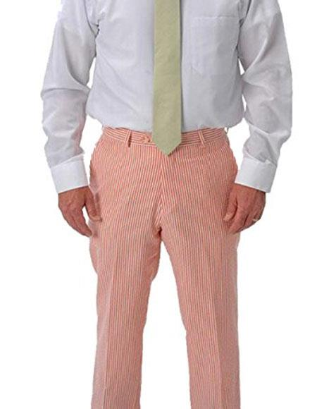 seersucker ~ sear sucker Slacks Dress Pants Available in orange color
