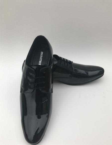 New Vintage Tuxedos, Tailcoats, Morning Suits, Dinner Jackets Mens Tuxedo Black Plain Toe Lace Up Style Formal Shiny Dress Shoes $75.00 AT vintagedancer.com