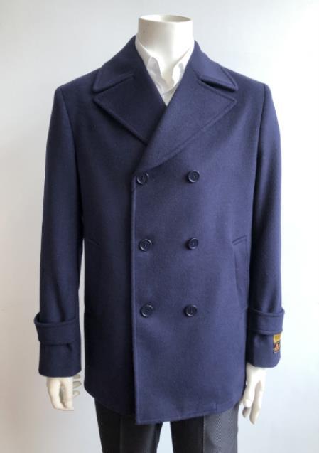Men's Dress Coat Double Breasted Designer Men's Wool Men's Peacoat Sale