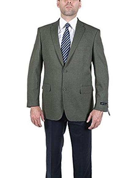1960s Men's Clothing, 70s Men's Fashion Men s Classic Olive 2 Button Blazer Suit Jacket $125.00 AT vintagedancer.com