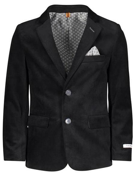 Boys ~ Children ~ Kids ~ Children Velvet ~ Velour Blazers Sport Coat Jacket Black AP770