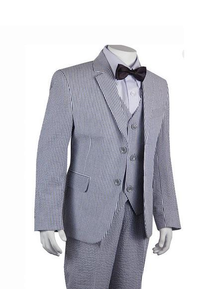 Men's Vintage Style Suits, Classic Suits Seersucker Suits Black Stripe  Pinstripe Boys  Children  Kids Suit $110.00 AT vintagedancer.com