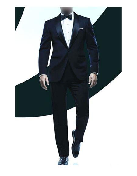 New Vintage Tuxedos, Tailcoats, Morning Suits, Dinner Jackets Mens James Bond Tuxedo $139.00 AT vintagedancer.com