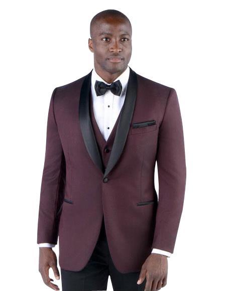 2 Button Burgundy ~ Wine ~ Maroon Color Suit