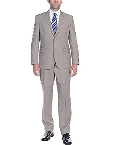 Buy P-L Mens Ticket Pocket Mens Slim Fit Two-Piece Single Breasted 2-Button Suit ( Jacket Pants )