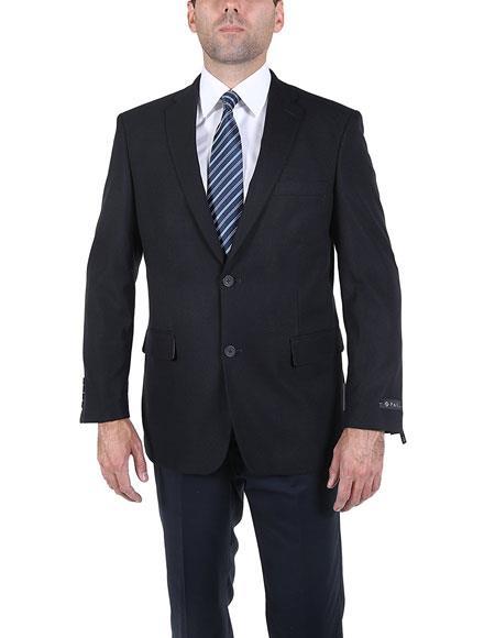 Buy GD1476 Men's Single Breasted Modern Fit 2 Button Blue Notch Lapel Blazer