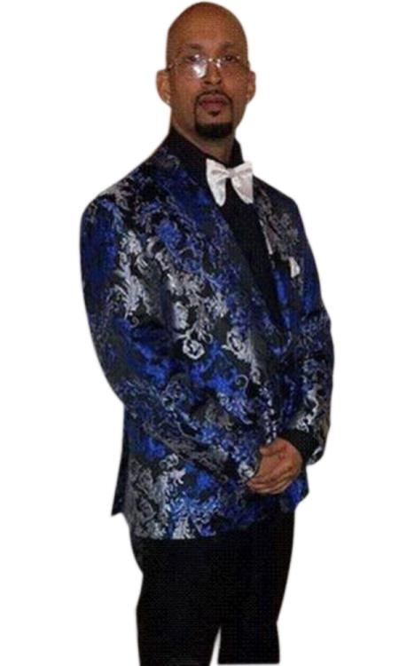 Sku Ch2326 Mens Tuxedo Light Royal Blue Gray Black