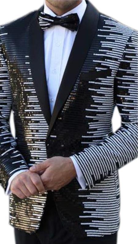 Buy E-137 Mens Floral Designed Black Notch Lapel Royal~Black tuxedo dinner jacket
