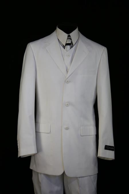 1950s Men's Clothing Mens Designer Formal 3pc Zoot Suit White Shirt and Pants $189.00 AT vintagedancer.com