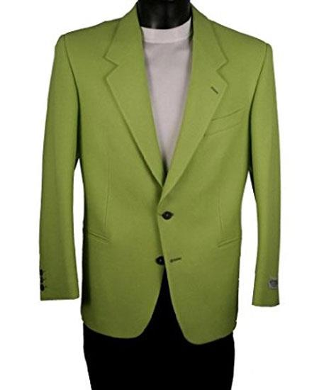 Buy GD1803 Men's 2 Button Single Breasted Notch Lapel Electric Green Blazer