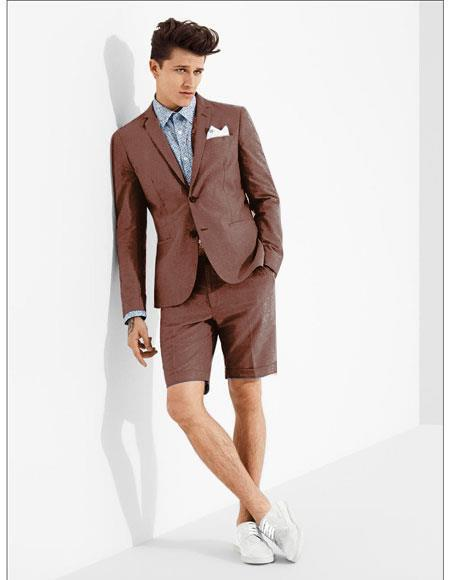 SKU#MO619 men's summer business suits with shorts pants set (sport coat Looking) Bornz