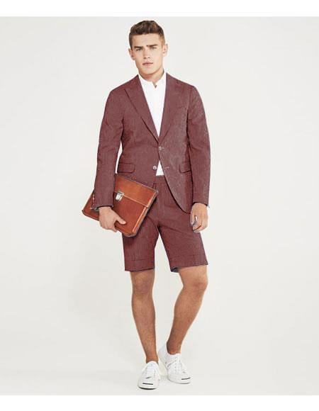 SKU#MO635 men's summer business suits with shorts pants set (sport coat Looking) Bornz