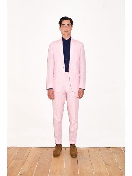 Linen2BV Mens  Pink Linen Suit