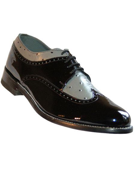 Men's Genuine Pattern Lace Up Cushion Insole Stacy Baldwin Shoes