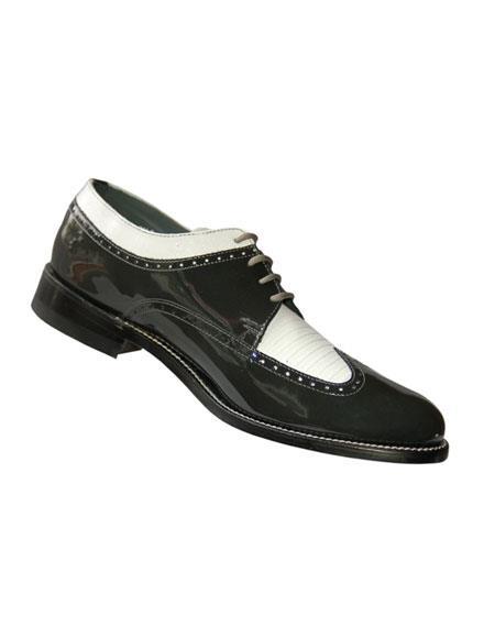 Men's 4 Eyelet lacing Cushion Insole Grey~White Shoes