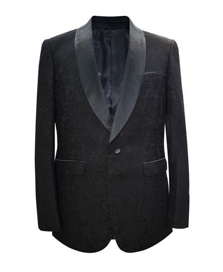 Alberto Nardoni Brand Men's Black Shawl Lapel Cheap Priced Designer Fashion Dress Casual Blazer On Sale 1 Button Matching Fashion Bow Tie Sport Coat Blazer Free Matching Bowtie