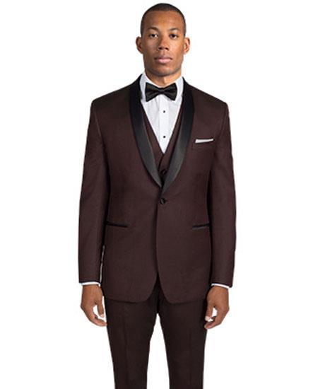 Men's 1 Button Shawl Lapel Burgundy ~ Maroon Tuxedo Jacket & pants  Dinner Jacket Blazer Velvet ~ Velour Fabric