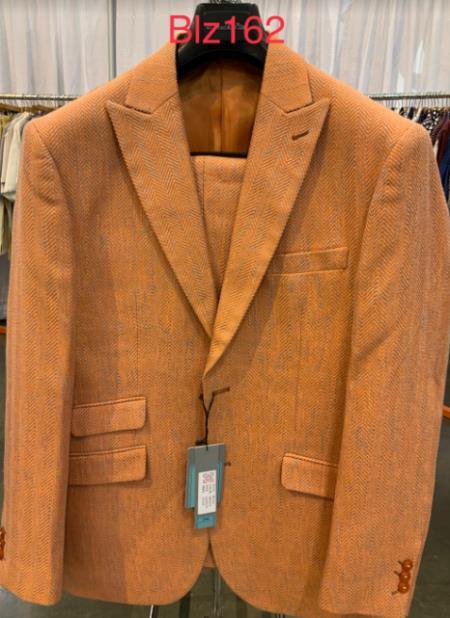 1960s Mens Suits | 70s Mens Disco Suits Alberto Nardoni Best Online Holiday Christmas Outfit For men Orange $139.00 AT vintagedancer.com