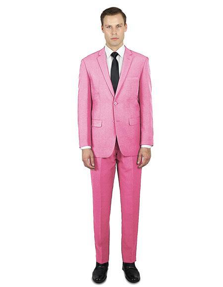 Buy Festive Alberto Nardoni Best Stylish Young Online Holiday Christmas Outfit Prom Affordable Suit men Pink