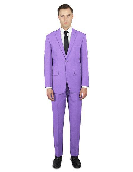 Lavender ~ Lilac Classic Fit  Festive Young Prom Affordable Suit