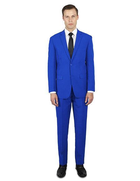1960s Mens Suits | 70s Mens Disco Suits Alberto Nardoni Best Online Holiday Christmas Outfit  For men Royal $135.00 AT vintagedancer.com