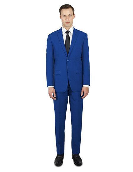 Festive Classic Fit  Indigo ~ Bright Blue ~ Electric Blue ~ Cobalt Suit