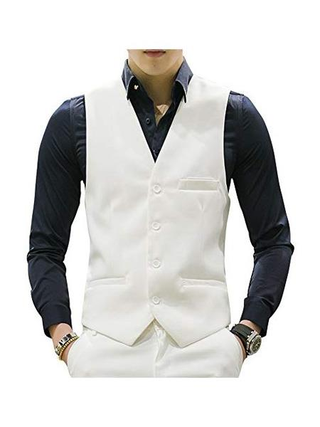 Men's Waistcoat Casual Suit Dress Tuxedo Wedding Men's Vest