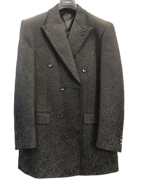 Men's Fashion Party Paisley ~ Sequin Floral Pattern Pleated Pants Blazer
