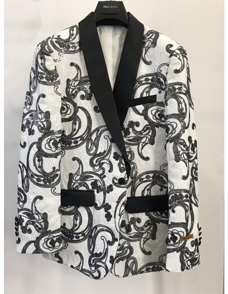 Men's Blazer Paisley Sport Coat Blazer Dinner Jacket Tuxedo