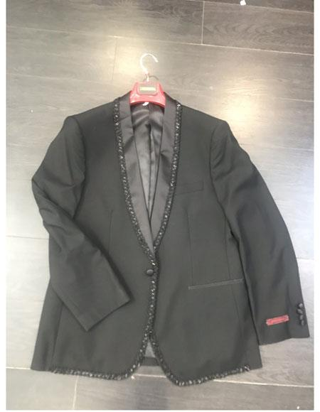 Men's Black Shawl Lapel Cheap Priced Designer Fashion Dress Casual Blazer On Sale One Button Blazer