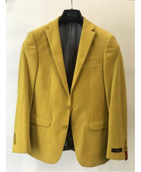 Men's Yellow Four Button Cuffs  Cheap Priced Designer Fashion Dress Casual Blazer On Sale Blazer