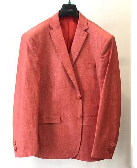 Mens Orange Four Button Cuffs Cheap Priced Designer Fashion Dress Casual Blazer On Sale Blazer