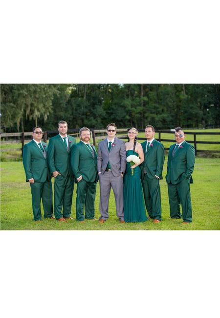 Men's Vested Suit Gray