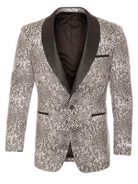 Gator Skin Gator Skin Print ~ Crocodile ~ Snake ~ Exotic ~ World Best Alligator Sport Coat Jacket / Formal Blazer
