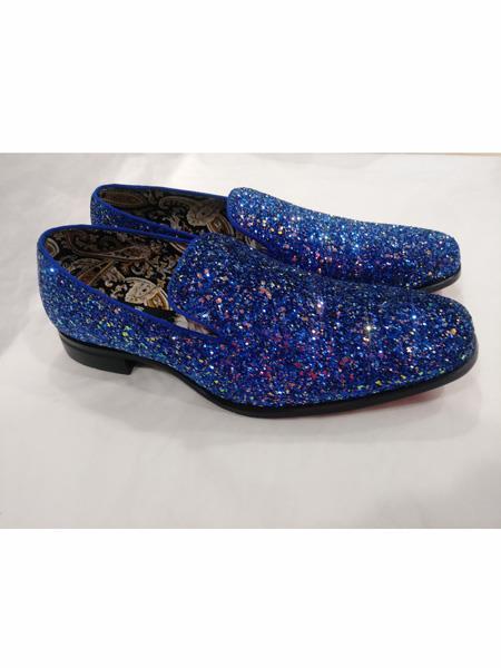 Men's Slip On Style Amazing Glitter Royal Dress Stylish Dress Loafer Shoes