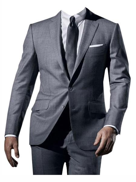 Mens Grey Single Breasted james bond Tuxedo