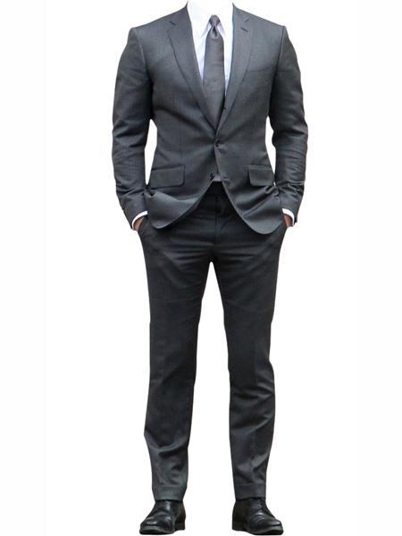Grey One Chest Pocket james bond Tuxedo