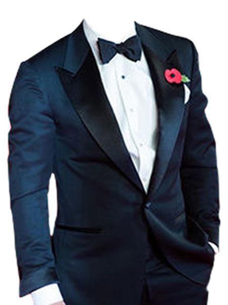 Midnight Blue Besom Two Pockets james bond Tuxedo