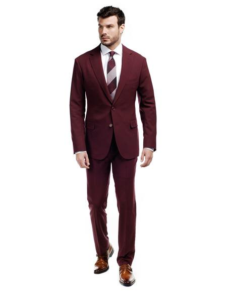 WTXVelvet2BV  Men's Burgundy ~ Maroon Suit  Velvet  Men's blazer Jacket & Pants (Matching)