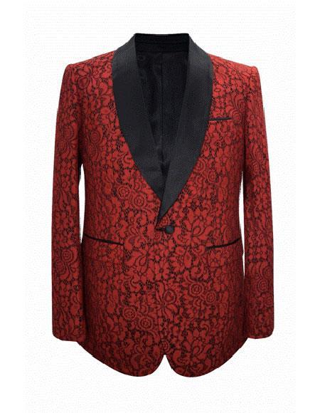 Men's Cheap Priced Fashion big and tall Plus Size Sport coats Jackets Cheap Blazer Jacket For Men For Guys Red Advanced Pre Order To Ship November / 15 / 2019