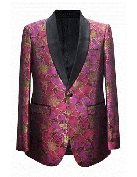 Mens Fuchsia Cheap Priced Fashion big and tall Plus Size Sport coats Jackets Blazer For Guys