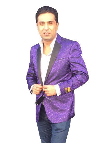 Men's Purple  Jackets Blazer