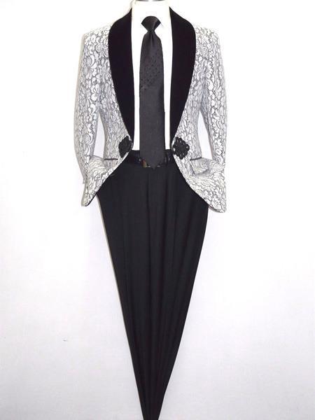 c3d97205 SKU#JA457 Mens Cheap Fashion big and tall Plus Size Sport coats Jackets  Blazer For Guys White