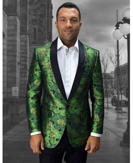 81484112 Mens Cheap Fashion big and tall Plus Size Sport coats Jackets Blazer For  Guys Green