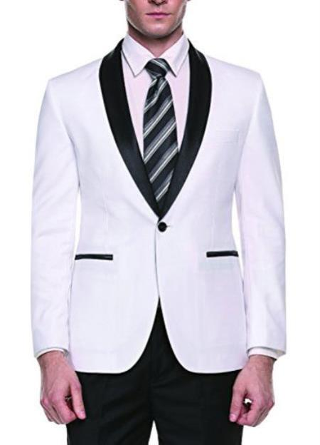 White Cheap Priced Fashion big and tall Blazer For Men's