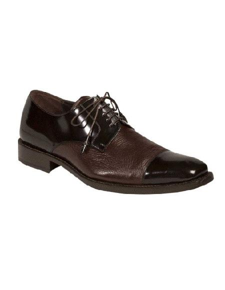Mezlan Brand Lace Up Brown Cushioned Insole Five Eyelet Lacing Shoe