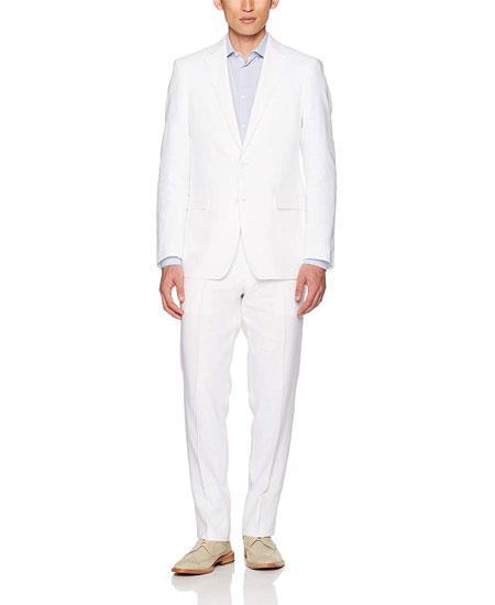 Mens White Linen Suit Separates Sale