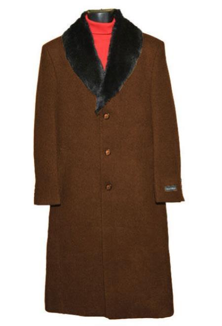 Mens Big And Tall  Overcoat Topcoat 4XL 5XL 6XL Brown