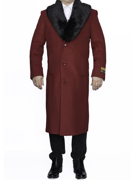 Mens Big And Tall Overcoat Topcoat 4XL 5XL 6XL Red