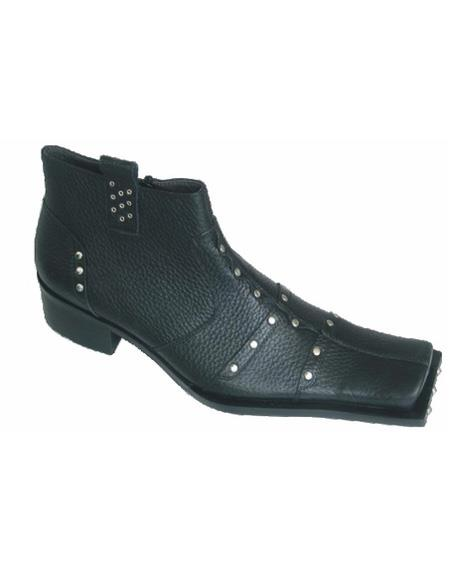 Men's Soft Genuine leather Cushioned Insole Slip On Black Unique Zota Men's Dress Shoe